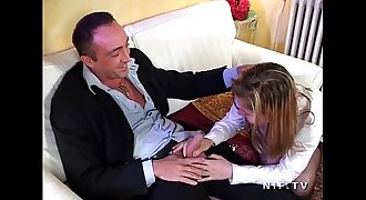 Pretty young french student teenage in schoolgirl uniform banged and sodomized