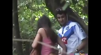Voyeur Busts Teenagers Fucking In The Forest